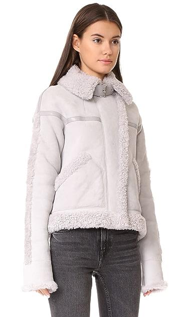Victoria Victoria Beckham Oversize Shearling Jacket
