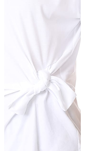 Victoria Victoria Beckham Asymmetrical Knot Tee