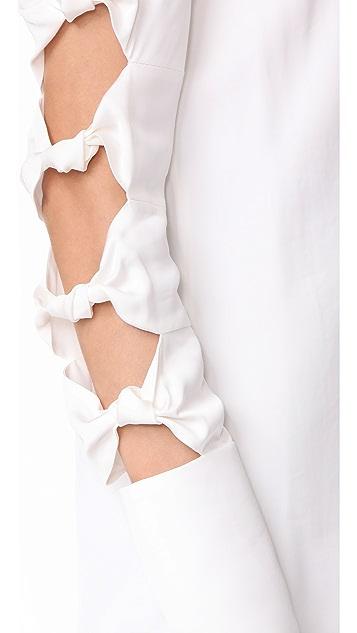Victoria Victoria Beckham Knot Sleeve Top