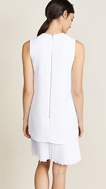 Victoria Victoria Beckham Pleat Hem Shift Dress