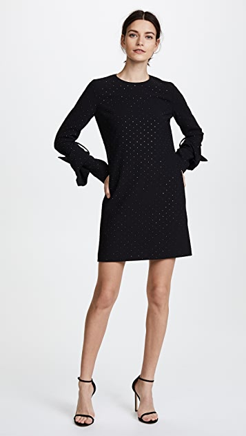 Victoria Victoria Beckham Twist Sleeve Shift Dress