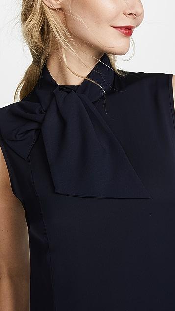 Victoria Victoria Beckham Neck Tie Shift Dress