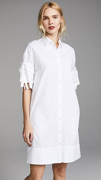 Victoria Victoria Beckham Gathered Sleeve Shirtdress