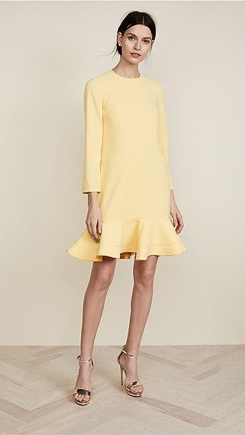 Victoria Victoria Beckham Zigzag Stitch Hem Shift Dress
