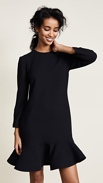 Victoria Victoria Beckham Zigzag Stitch Hem Shift Dress