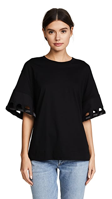 Victoria Victoria Beckham Laced Sleeve Tee