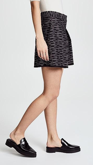 Victoria Victoria Beckham Front Pleat Shorts