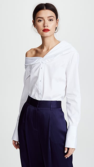 Victoria Victoria Beckham One Shoulder Shirt