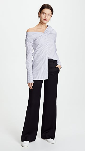 Victoria Victoria Beckham One Shoulder Shirt