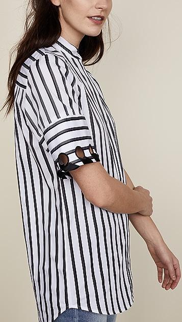 Victoria Victoria Beckham Laced Sleeve Shirt