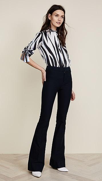 Victoria Victoria Beckham Tie Sleeve Shirt