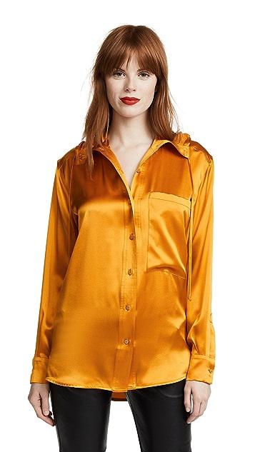 Victoria Victoria Beckham Hooded Shirt