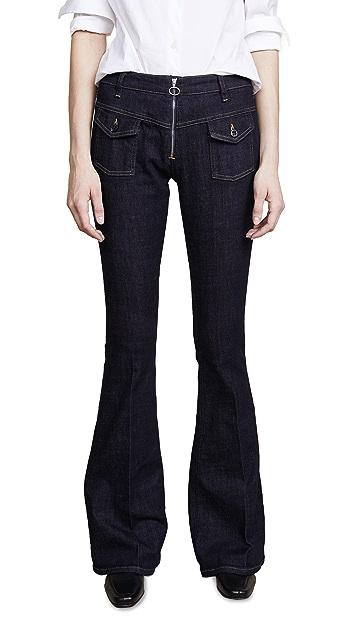 Victoria Victoria Beckham Zipper Flare Jeans