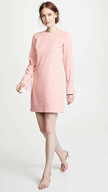 Victoria Victoria Beckham Tie Cuff Shift Dress