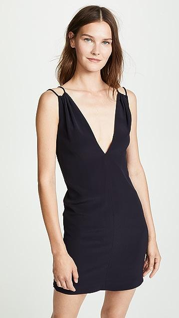 Victoria Victoria Beckham Gathered V-Neck Dress
