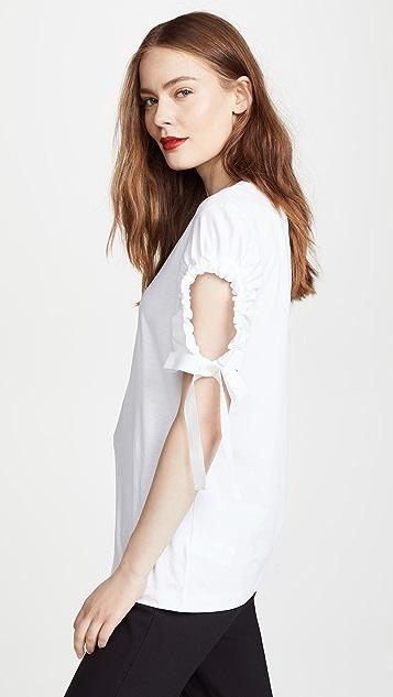 Victoria Victoria Beckham Cutout Sleeve Tee