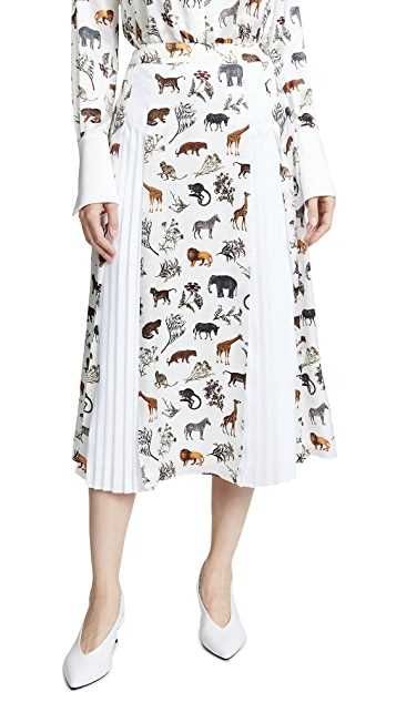 Victoria Victoria Beckham Pleat Insert Skirt