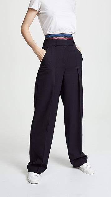 Victoria Victoria Beckham Double Waistband Pants
