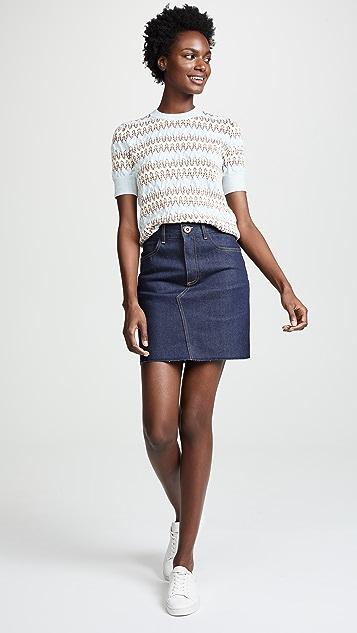 Victoria Victoria Beckham Raw Hem Miniskirt