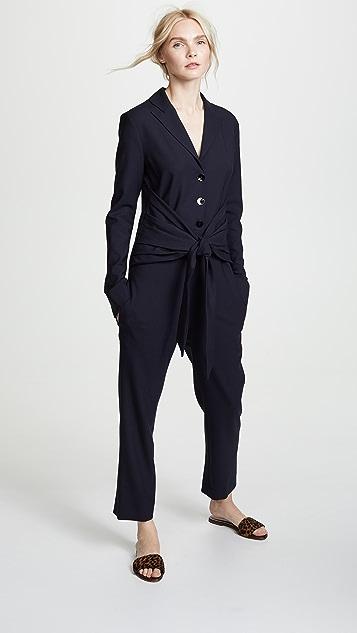Victoria Victoria Beckham Tie Waist Jumpsuit