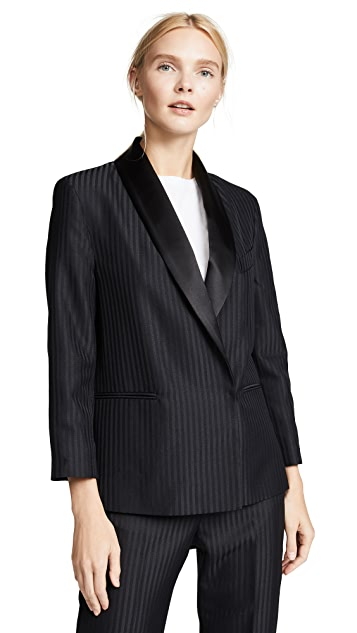 Victoria Victoria Beckham Cropped Sleeve Tux Blazer