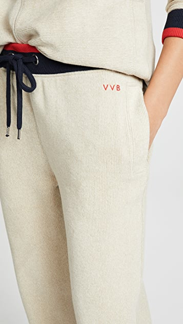 Victoria Victoria Beckham Contrast Rib Sweatpants