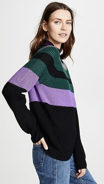 Victoria Victoria Beckham Wool Raglan Boyfriend Sweater