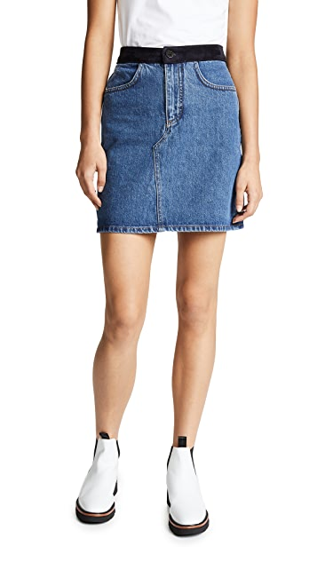 Victoria Victoria Beckham Denim Miniskirt
