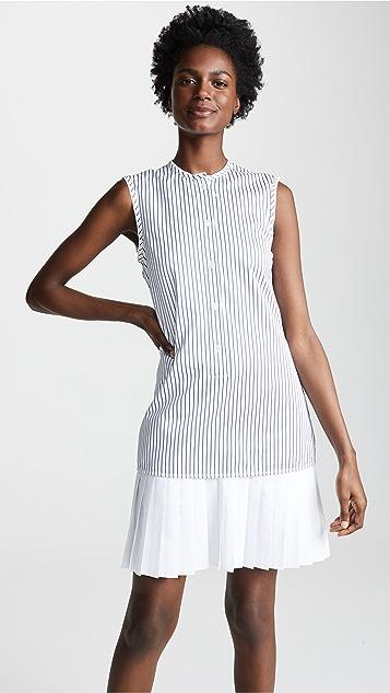 Victoria Victoria Beckham Pleat Hem Shirtdress