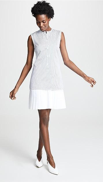 Victoria Victoria Beckham Платье-рубашка с плиссированным краем