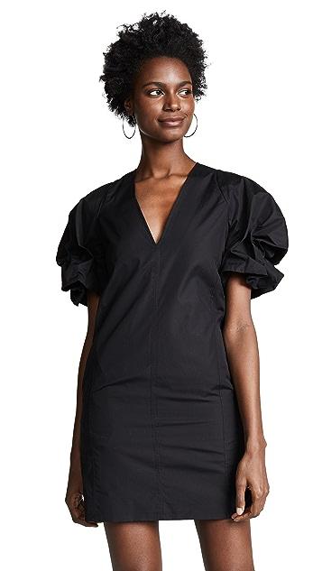 Victoria Victoria Beckham Puff Sleeve Mini Dress