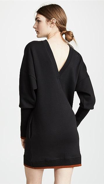 Victoria Victoria Beckham Платье-свитер с V-образным вырезом на спине