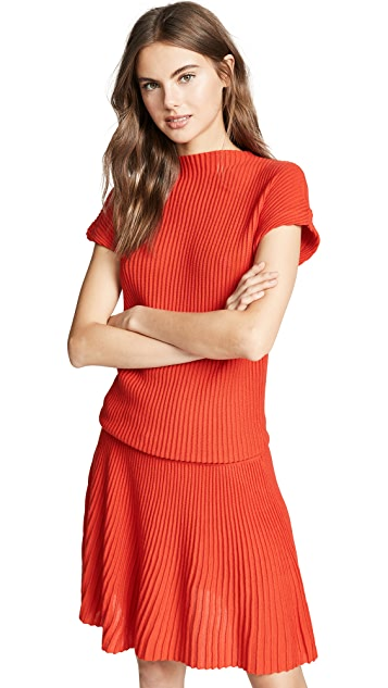 Victoria Victoria Beckham Blouson Mini Dress