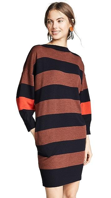 Victoria Victoria Beckham V Back Striped Dress