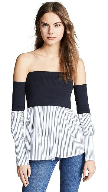 Victoria Victoria Beckham Off Shoulder Shirt