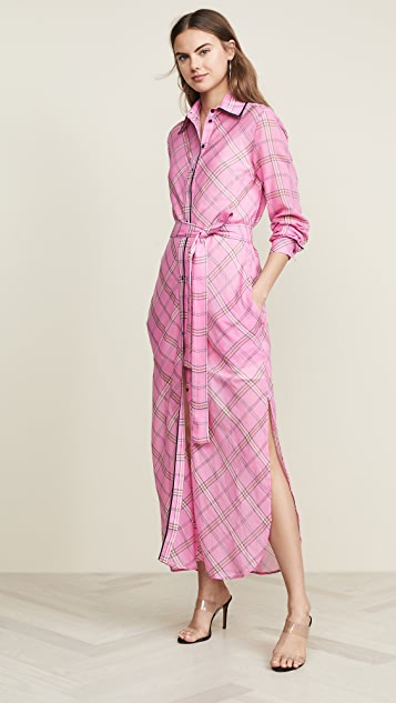 Victoria Victoria Beckham Long Plaid Shirtdress