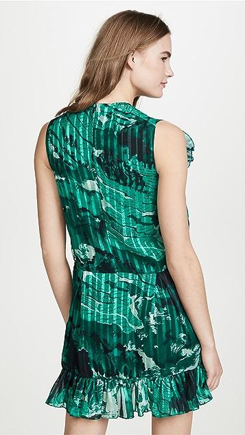 Victoria Victoria Beckham Mixed Ruffle Dress