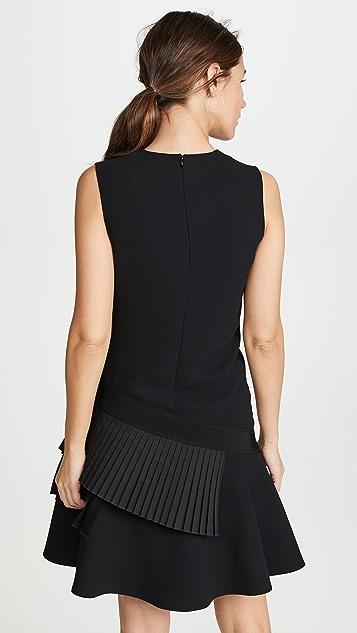 Victoria Victoria Beckham Asymmetric Pleat Dress