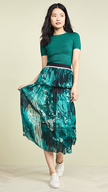 Victoria Victoria Beckham 混合褶皱半身裙