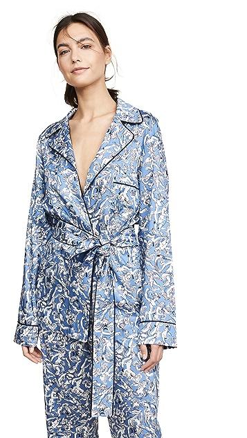 Victoria Victoria Beckham Tie Waist Pajama Shirt
