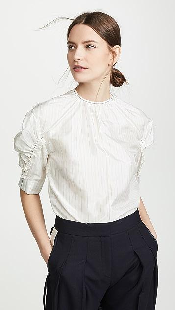 Victoria Victoria Beckham Puff Sleeve Top - White