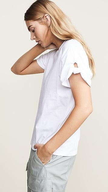 Victoria Victoria Beckham Knotted Sleeve T-shirt