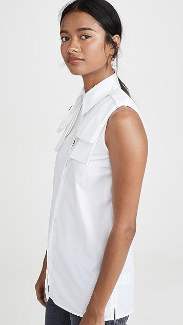 Victoria Victoria Beckham Sleeveless Epaulet Shirt