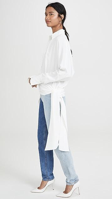 Victoria Victoria Beckham Side Tie Shirt