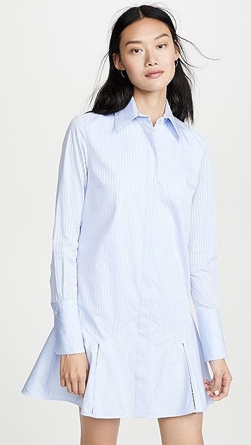 Victoria Victoria Beckham Платье-рубашка с оборчатым подолом