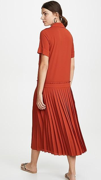 Victoria Victoria Beckham Платье со складками