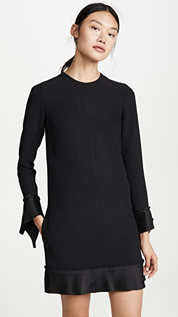 Pleat Detail Shift Dress by Victoria Victoria Beckham