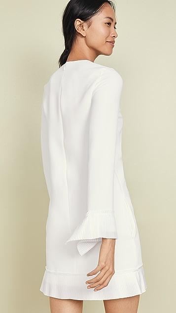Victoria Victoria Beckham 裥褶细节直筒连衣裙