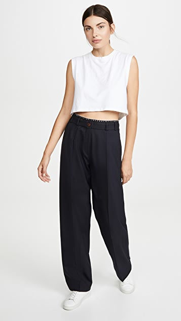 Victoria Victoria Beckham Logo Detail Trousers