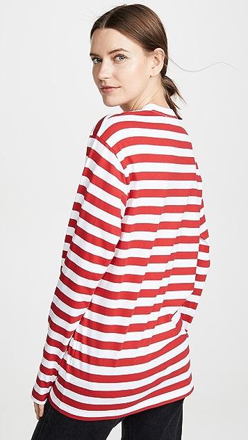 Victoria Victoria Beckham Полосатая футболка